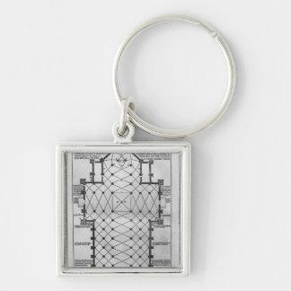 Plan of Milan Cathedral Key Ring