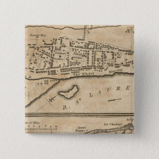 Plan of Montreal, with a Map of the Islands 15 Cm Square Badge