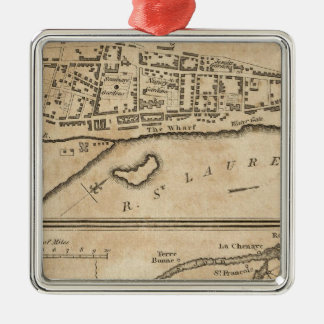 Plan of Montreal, with a Map of the Islands Christmas Ornament