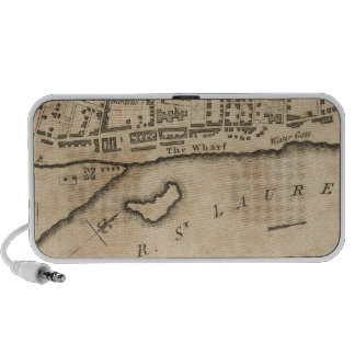 Plan of Montreal, with a Map of the Islands iPod Speakers
