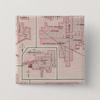 Plan of Mount Vernon, Posey County with Patoka 15 Cm Square Badge
