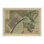 Plan of New Orleans Map 1759 Poster