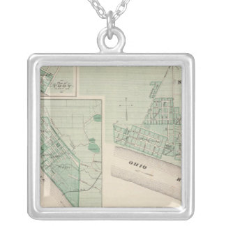 Plan of Newburgh, Warrick Co with Boonville Silver Plated Necklace