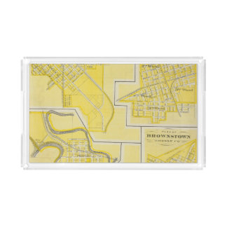 Plan of North Vernon, Jennings Co with Vernon Acrylic Tray