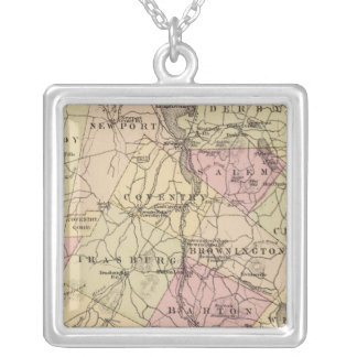 Plan of Orleans Company in Vermont Silver Plated Necklace