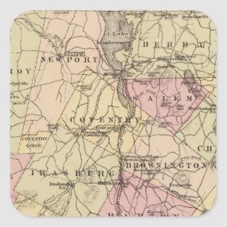 Plan of Orleans Company in Vermont Square Sticker