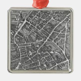 Plan of Paris Christmas Ornament