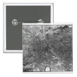 Plan of Paris, known as the 'Plan de Turgot' 15 Cm Square Badge