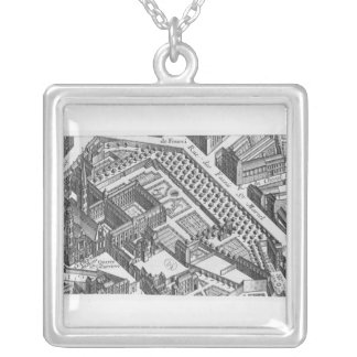 Plan of Paris Silver Plated Necklace