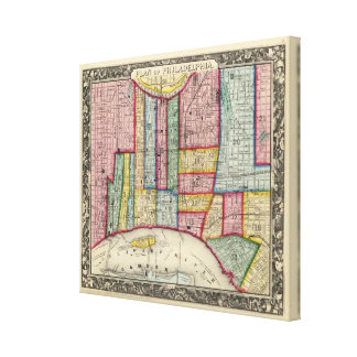 Plan Of Philadelphia Canvas Print
