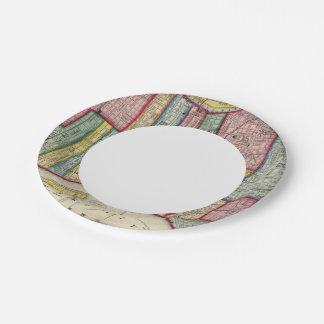Plan Of Philadelphia Paper Plate