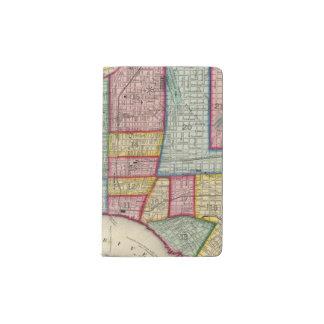 Plan Of Philadelphia Pocket Moleskine Notebook