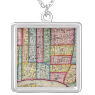 Plan Of Philadelphia Silver Plated Necklace