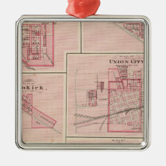 Plan of Portland, Jay Co, Ind with Camden Christmas Ornament