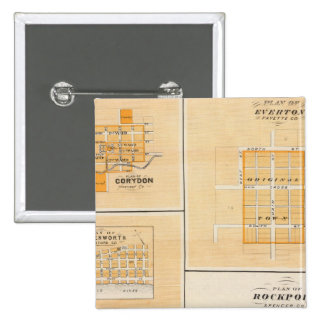 Plan of Rockport, Spencer Co with Everton 15 Cm Square Badge
