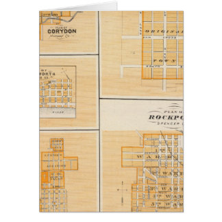 Plan of Rockport, Spencer Co with Everton Greeting Card