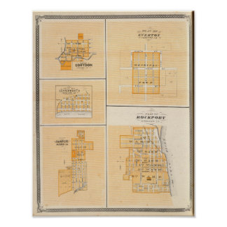 Plan of Rockport, Spencer Co with Everton Poster