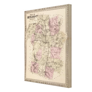 Plan of Rutland Vermont Canvas Print