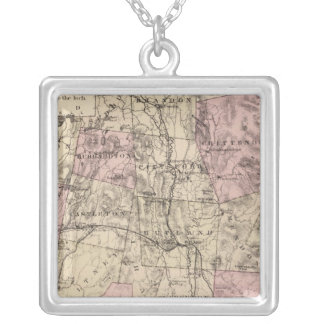 Plan of Rutland Vermont Silver Plated Necklace
