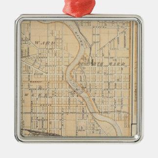 Plan of South Bend with Mishawaka Christmas Ornament