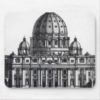 Plan of St. Peter's, Rome, engraved by Mouse Mat