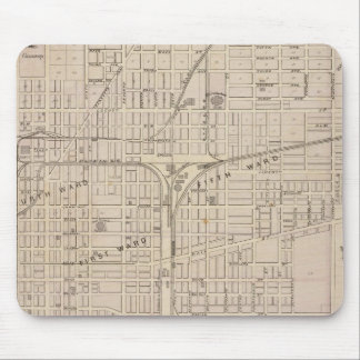 Plan of Terre Haute, Vigo Co Mouse Mat