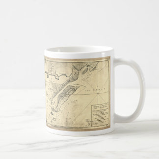 Plan of the Attack Fort Sulivan Map (June 28 1776) Basic White Mug