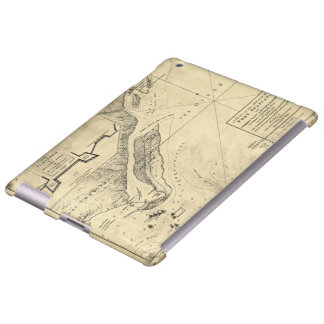 Plan of the Attack Fort Sulivan Map (June 28 1776) iPad Case