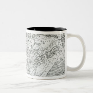 Plan of the Battle of Minden Two-Tone Coffee Mug