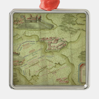 Plan of the Battle of Mollwitz Christmas Ornament