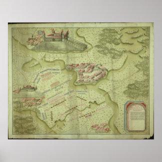 Plan of the Battle of Mollwitz Poster