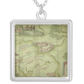 Plan of the Battle of Mollwitz Silver Plated Necklace