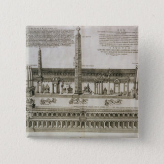 Plan of the Circus Maximus, Rome, engraved by the 15 Cm Square Badge