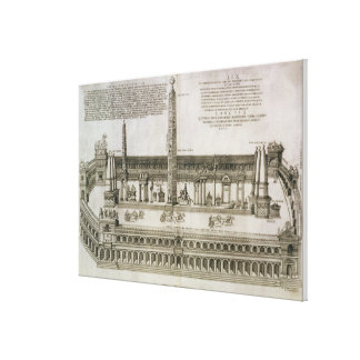 Plan of the Circus Maximus, Rome, engraved by the Canvas Print