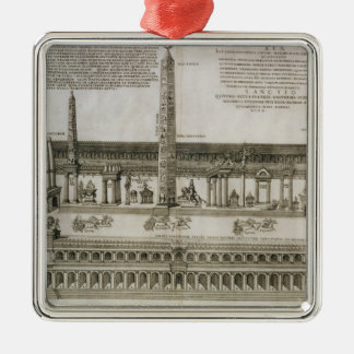Plan of the Circus Maximus, Rome, engraved by the Christmas Ornament
