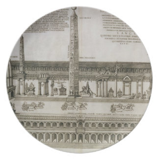 Plan of the Circus Maximus, Rome, engraved by the Dinner Plate