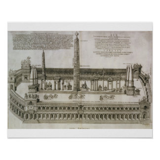 Plan of the Circus Maximus, Rome, engraved by the Print