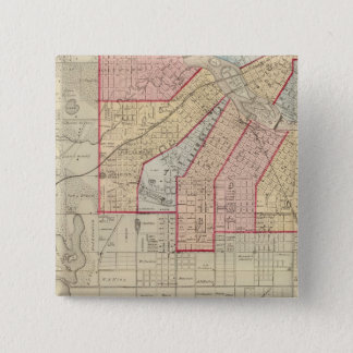 Plan of the City of Minneapolis and Vicinity 15 Cm Square Badge