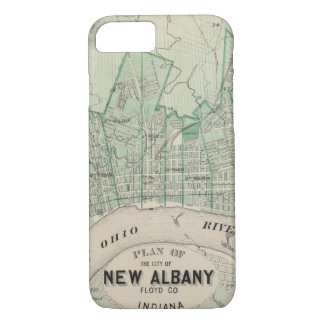 Plan of the City of New Albany, Floyd Co, Indiana iPhone 8/7 Case