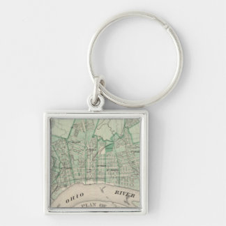 Plan of the City of New Albany, Floyd Co, Indiana Key Ring