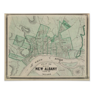 Plan of the City of New Albany, Floyd Co, Indiana Poster