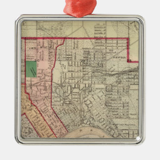 Plan of the City of St. Paul and Vicinity Christmas Ornament