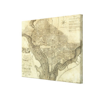 Plan of the City of Washington Canvas Print