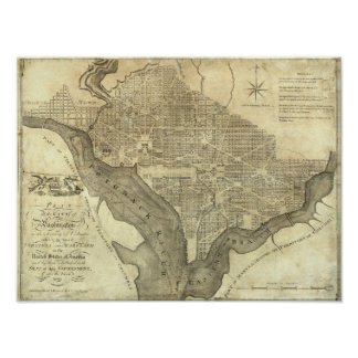Plan of the City of Washington Poster