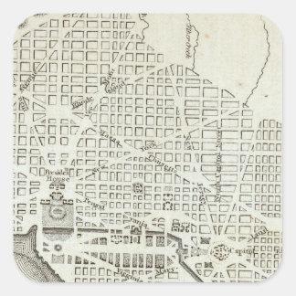 Plan of the City of Washington Square Sticker