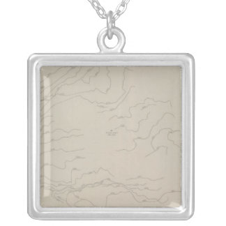Plan of the Clay Walls of the New Almaden Mine Silver Plated Necklace