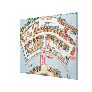 Plan of the Dutch Factory in the Island of Desima Canvas Print