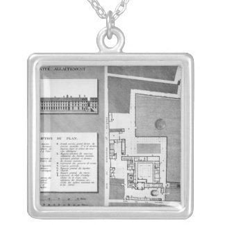 Plan of the Maternite Port-Royal Silver Plated Necklace