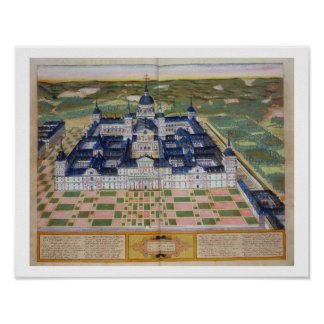 Plan of the Monastery of El Escorial, from 'Civita Poster