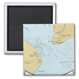 Plan of the Naval Attack And Capture of Port Royal Refrigerator Magnet